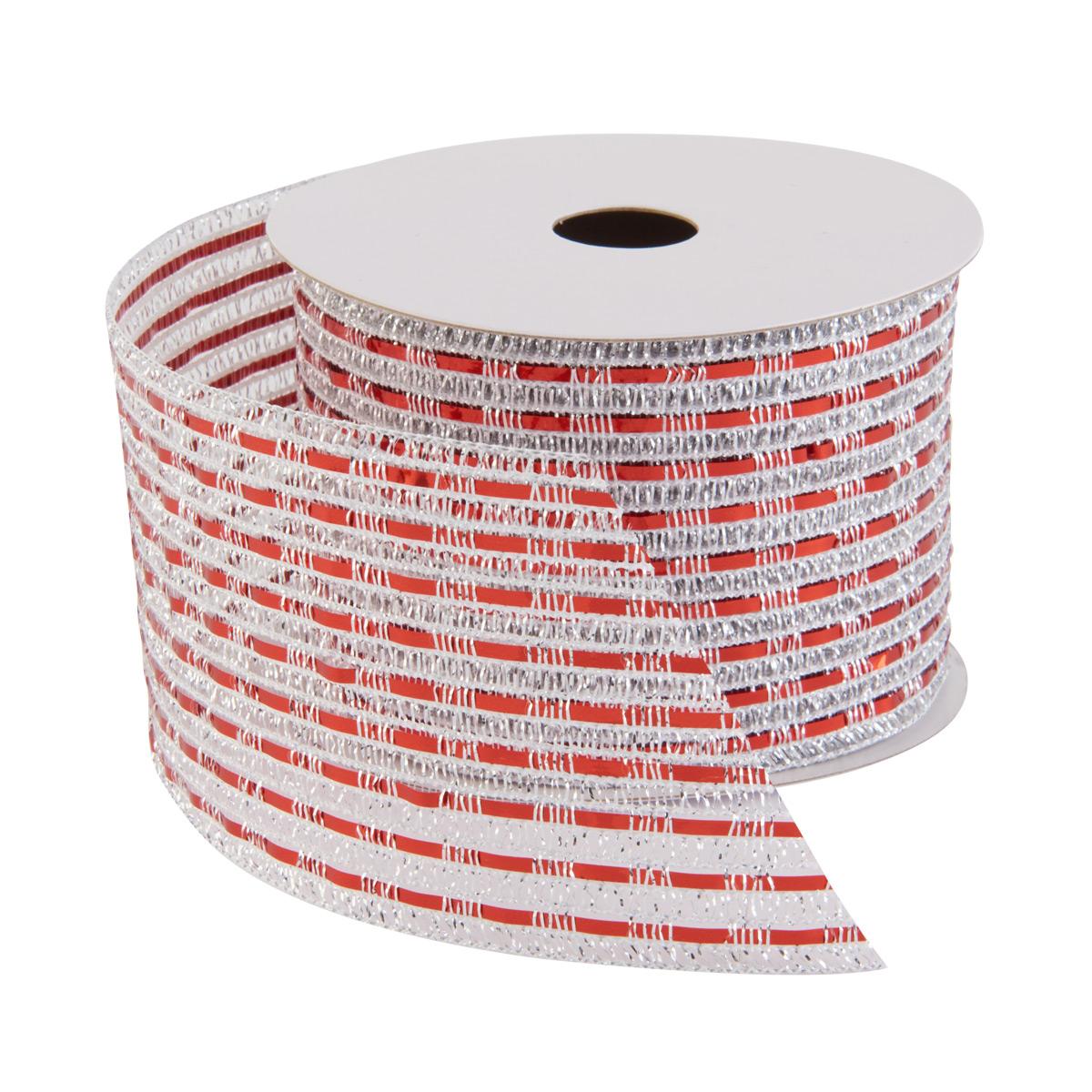 Ribbon Wired Lurex Silver