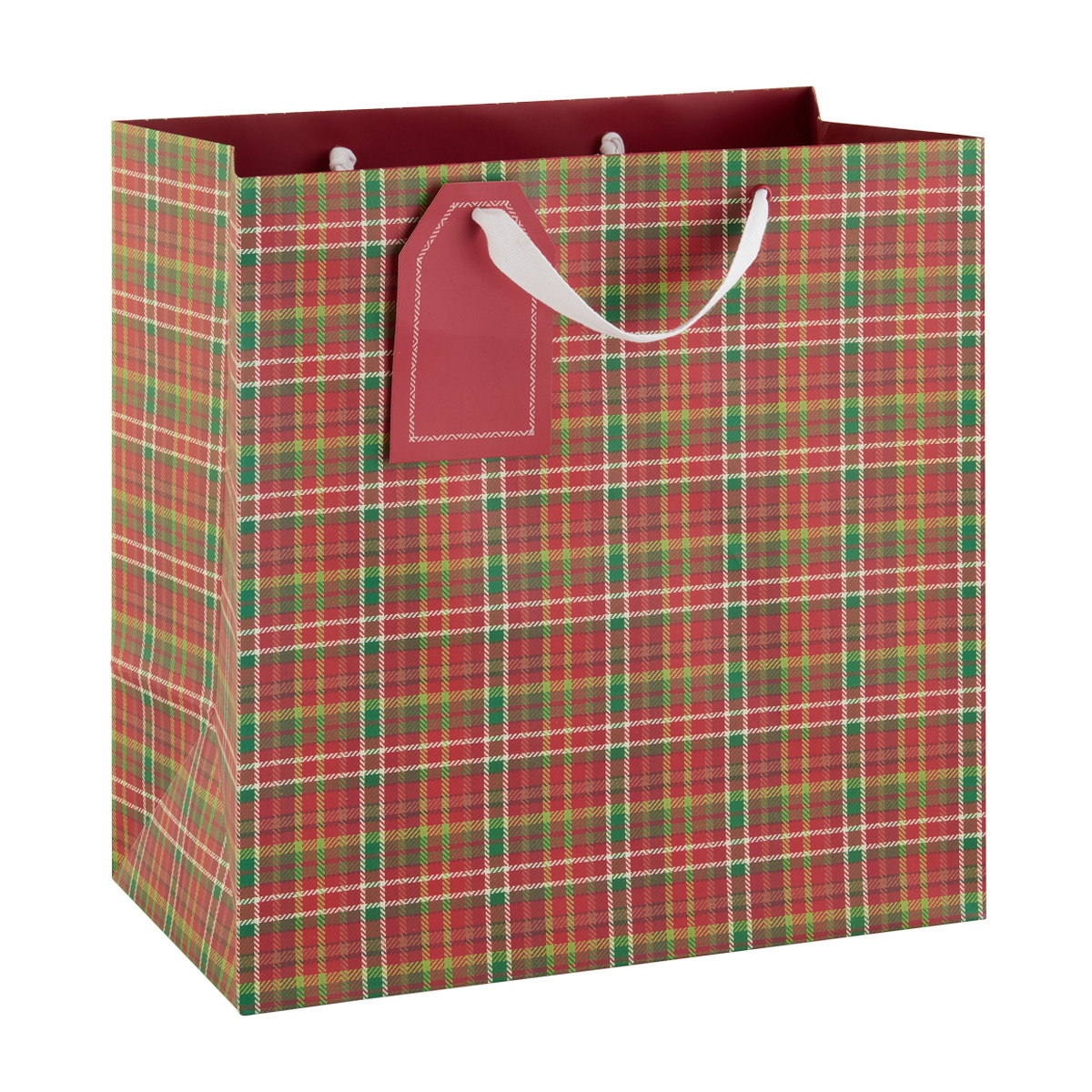 Jumbo Tote Woodland Plaid Lux