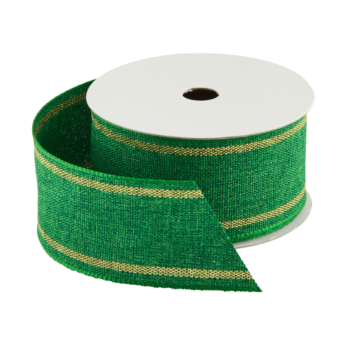 Ribbon Wired Linen Green
