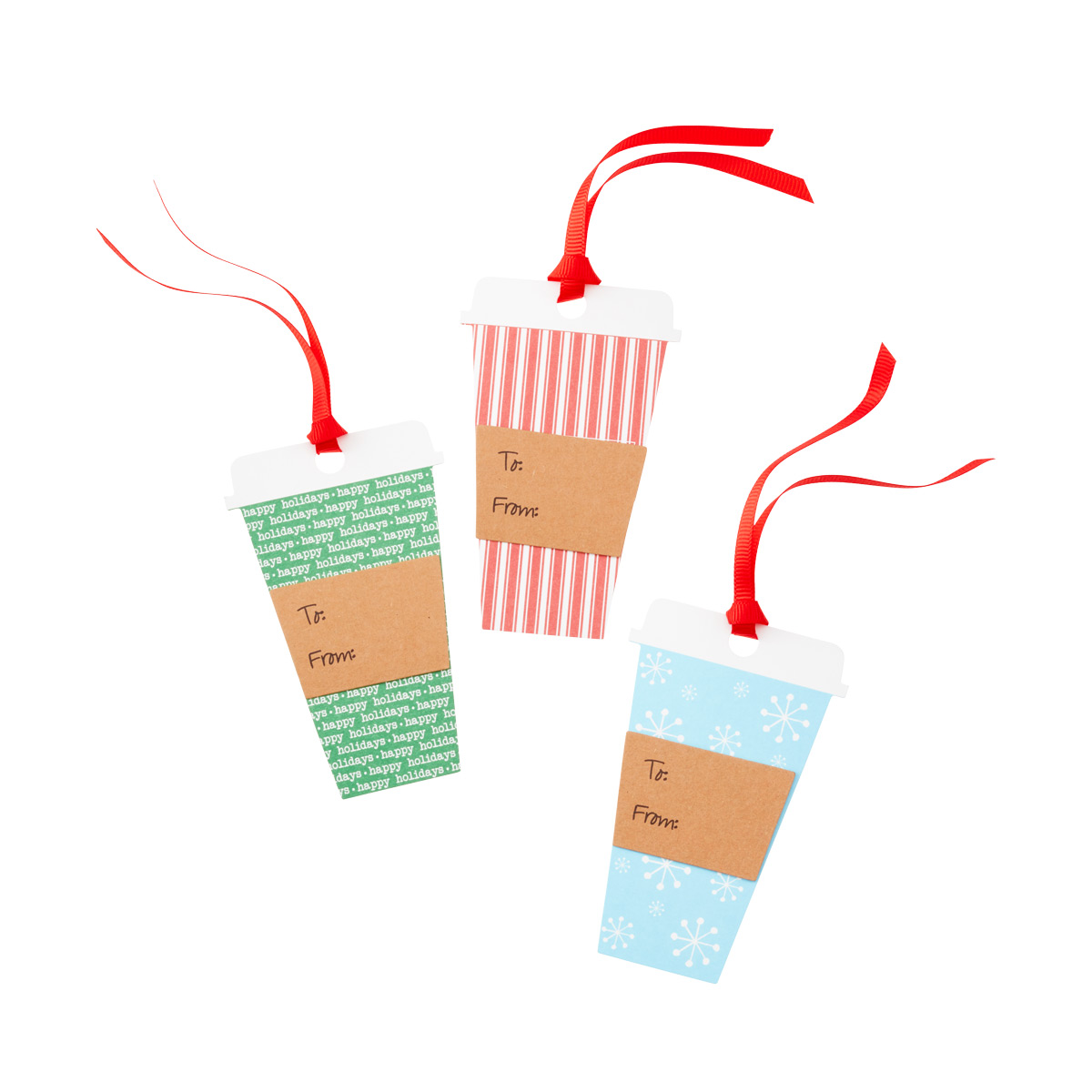 Gift Tags Holiday Cup