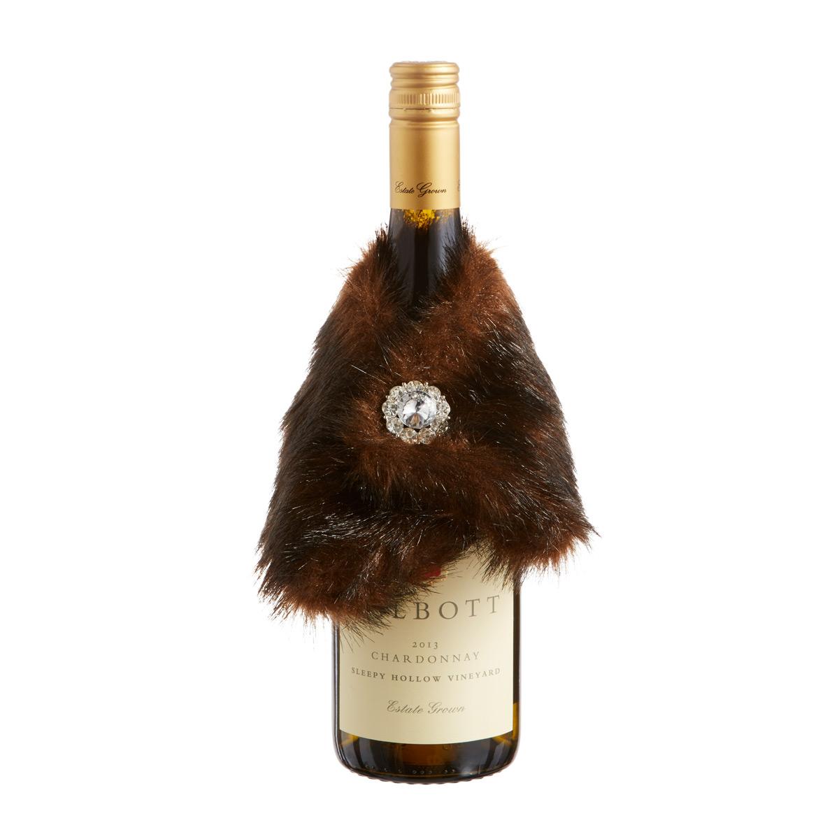 Wine Faux Mink Stole