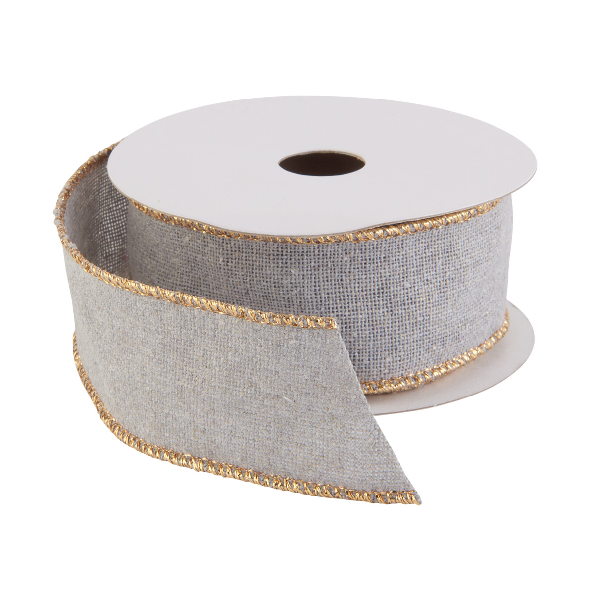 Ribbon Wired Woven Grey/Gold