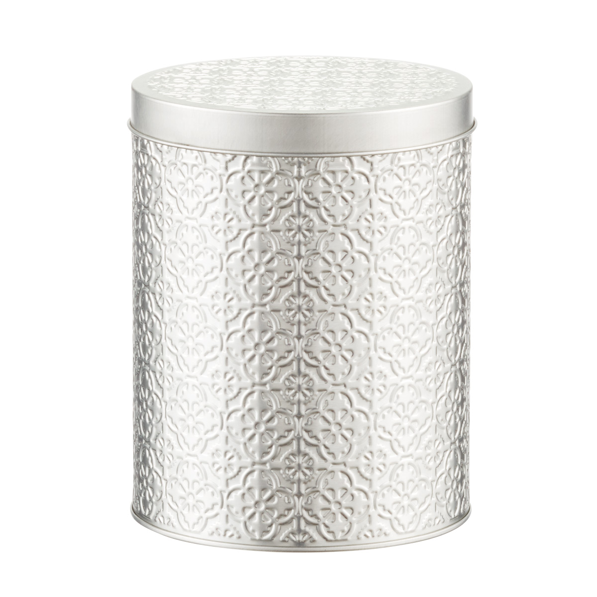 Embossed Tin Cylinder