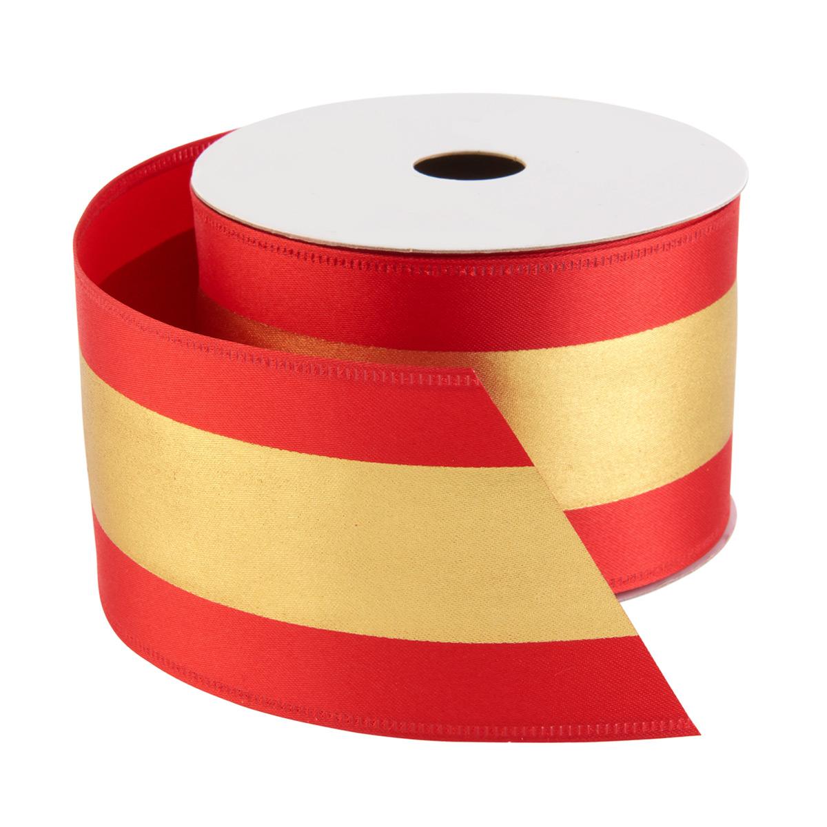 Ribbon Wired Striped Satin