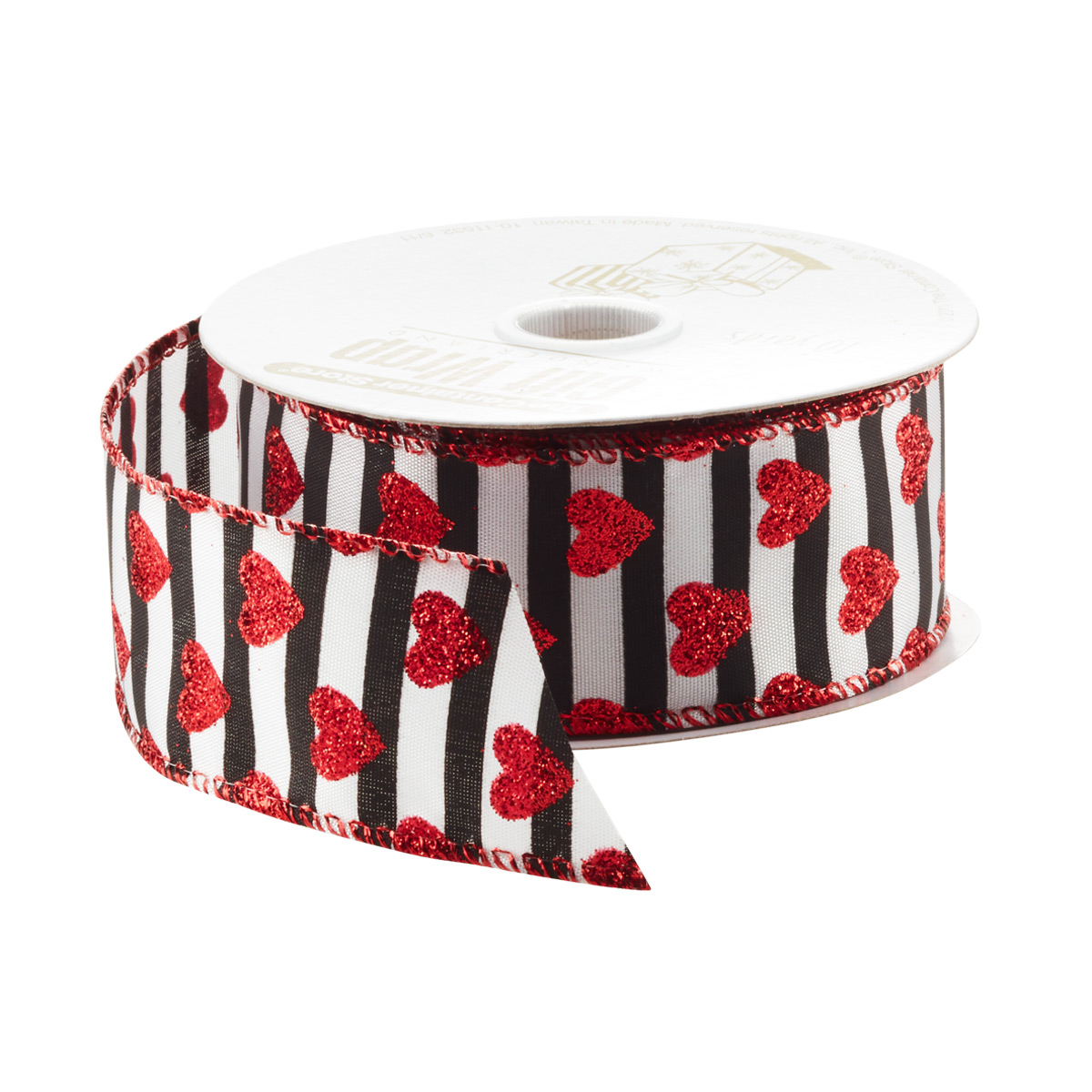 Ribbon Wired Stripe w/Heart