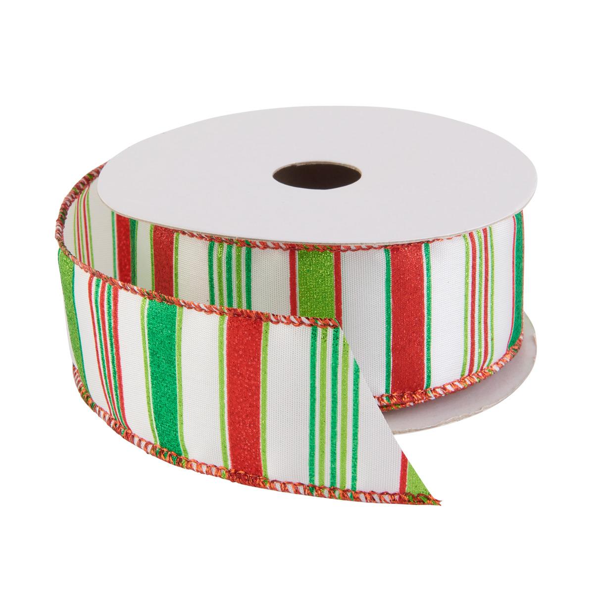 Ribbon Wired Glitter Stripe