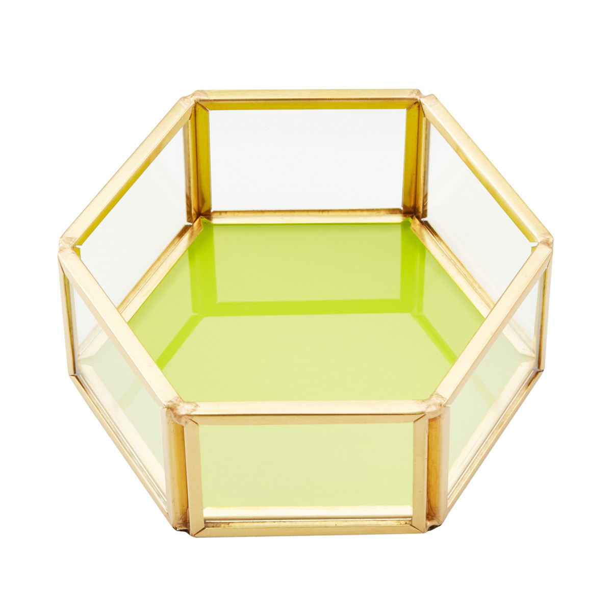 Glass and Metal Jewelry Tray