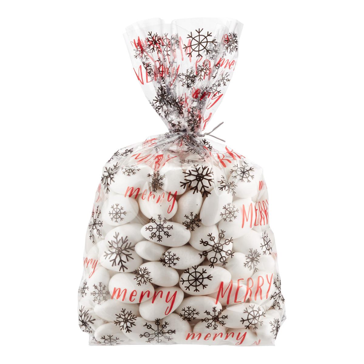 Cello Bag Merry Snowflakes