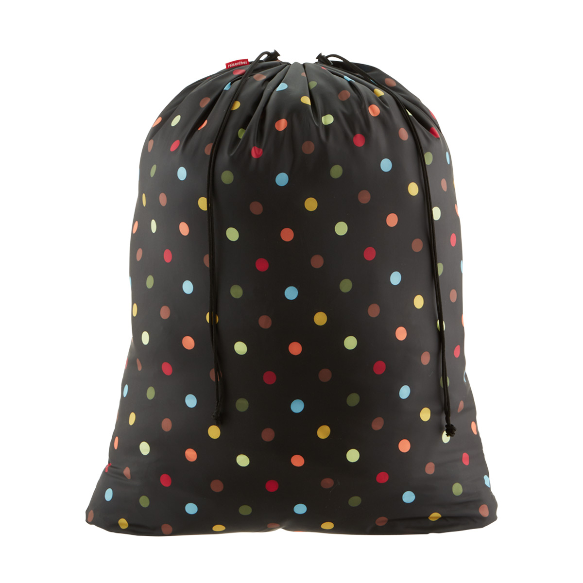 Laundry Bag Black Multi Dots