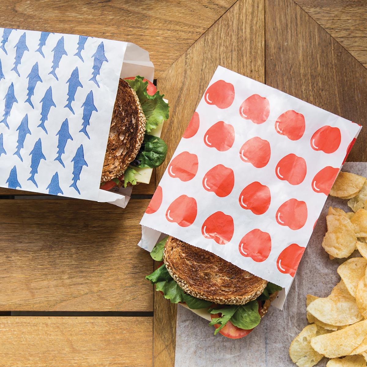 Sealable Paper Sandwich Bags