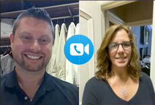 Virtual In-Home Closet Design Video Chat