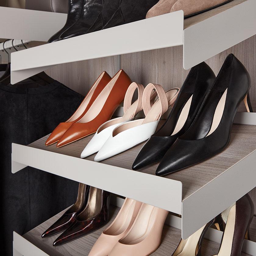 Stone Avera Angled Shoe Shelves