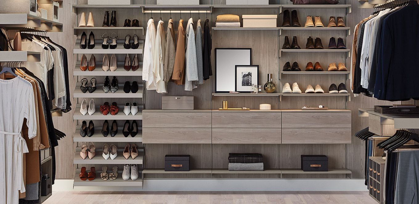 Avera Custom Closets stone walk-in closet