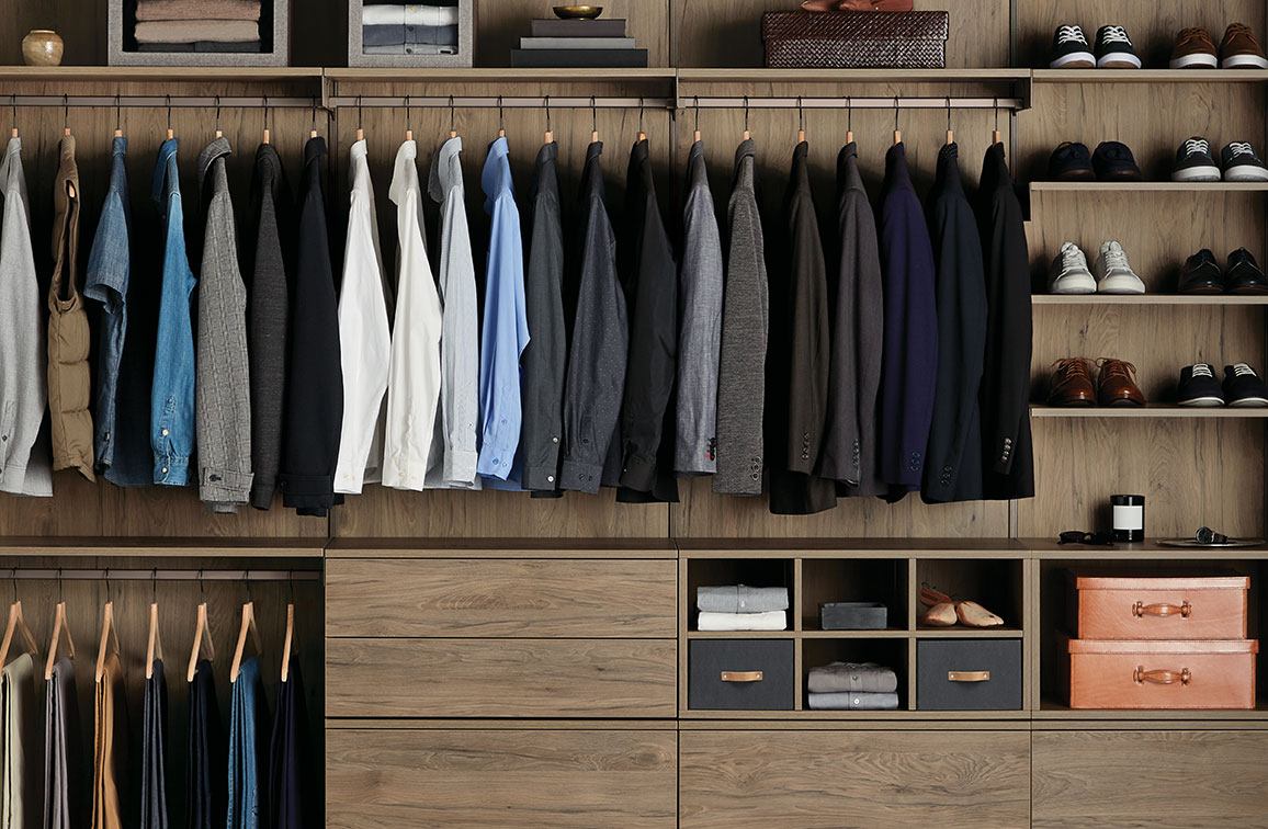 Avera Custom Closets truffle reach-in closet lp get started
