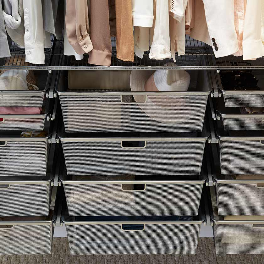 Platinum Elfa Hanging Drawers