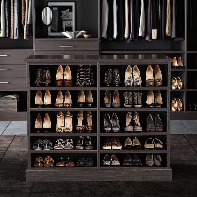 Ebony TCS Closet with Customizable Island