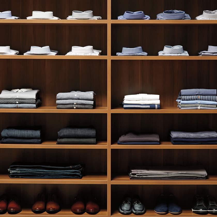 Chestnut TCS Closet Shelves