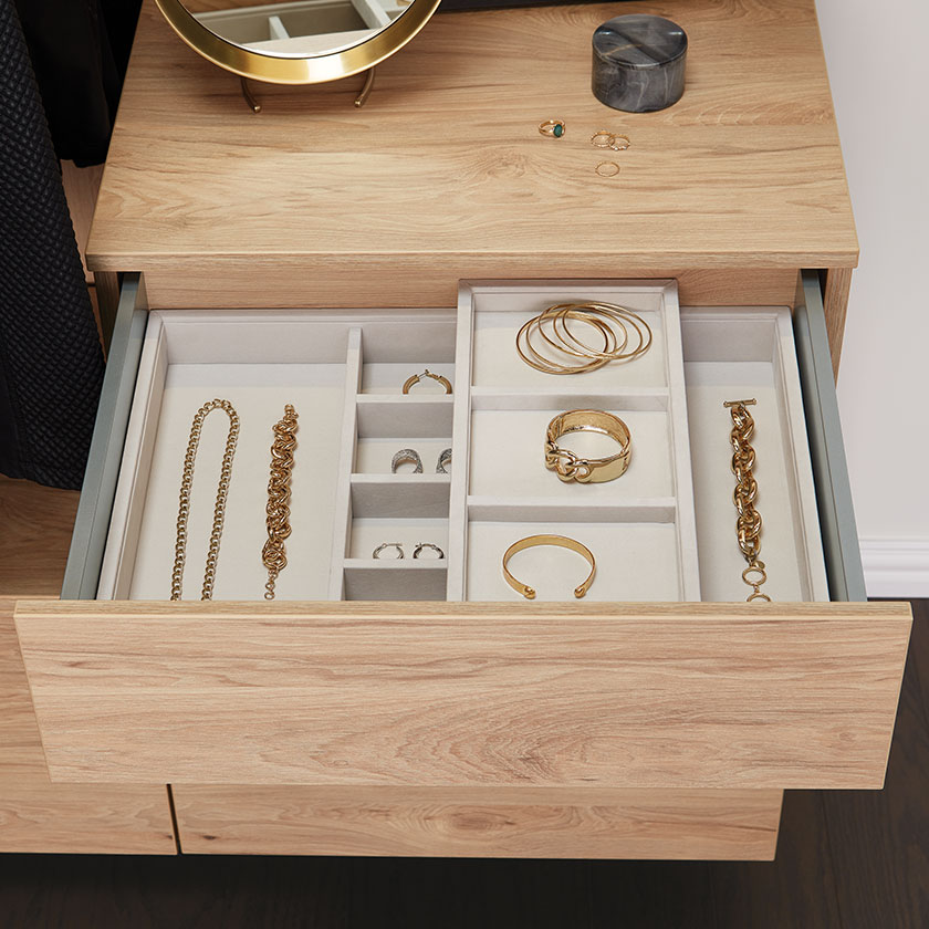 Dune Avera Full-Extension Drawer with Jewelry Tray
