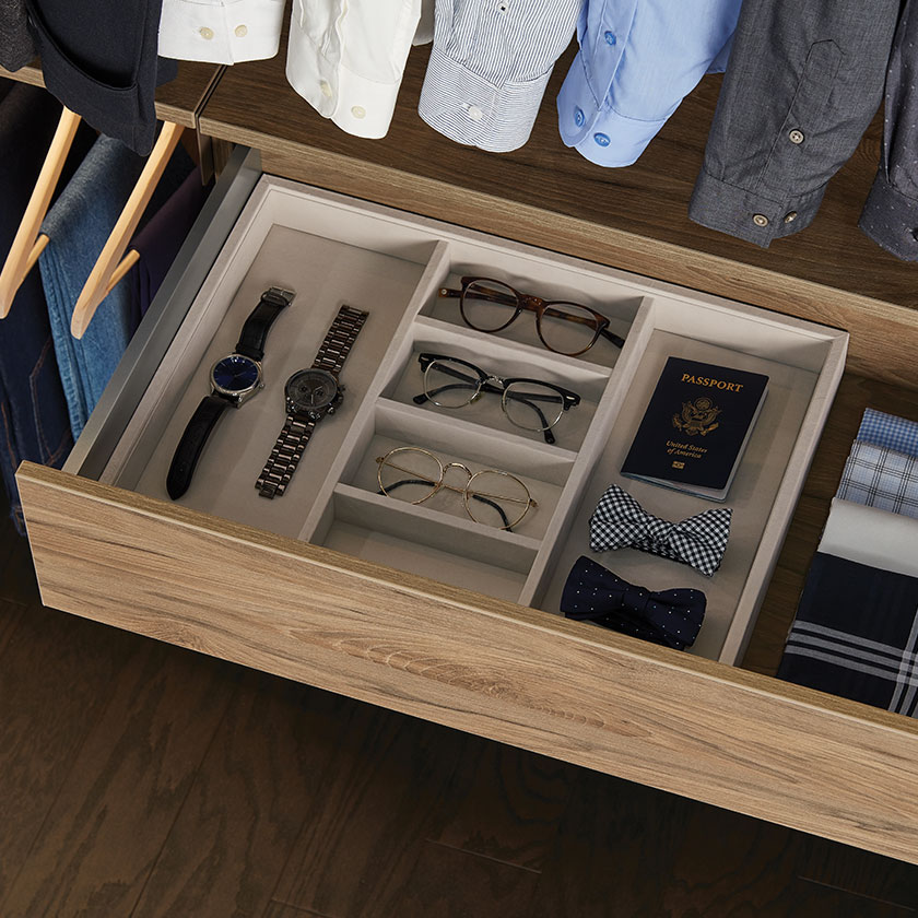 Truffle Avera Full-Extension Drawer with Accessory Tray