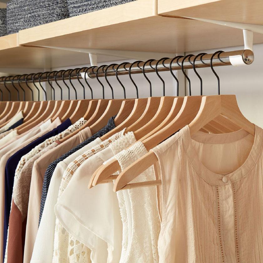 Elfa Closet Rod and Basic Lotus Hangers