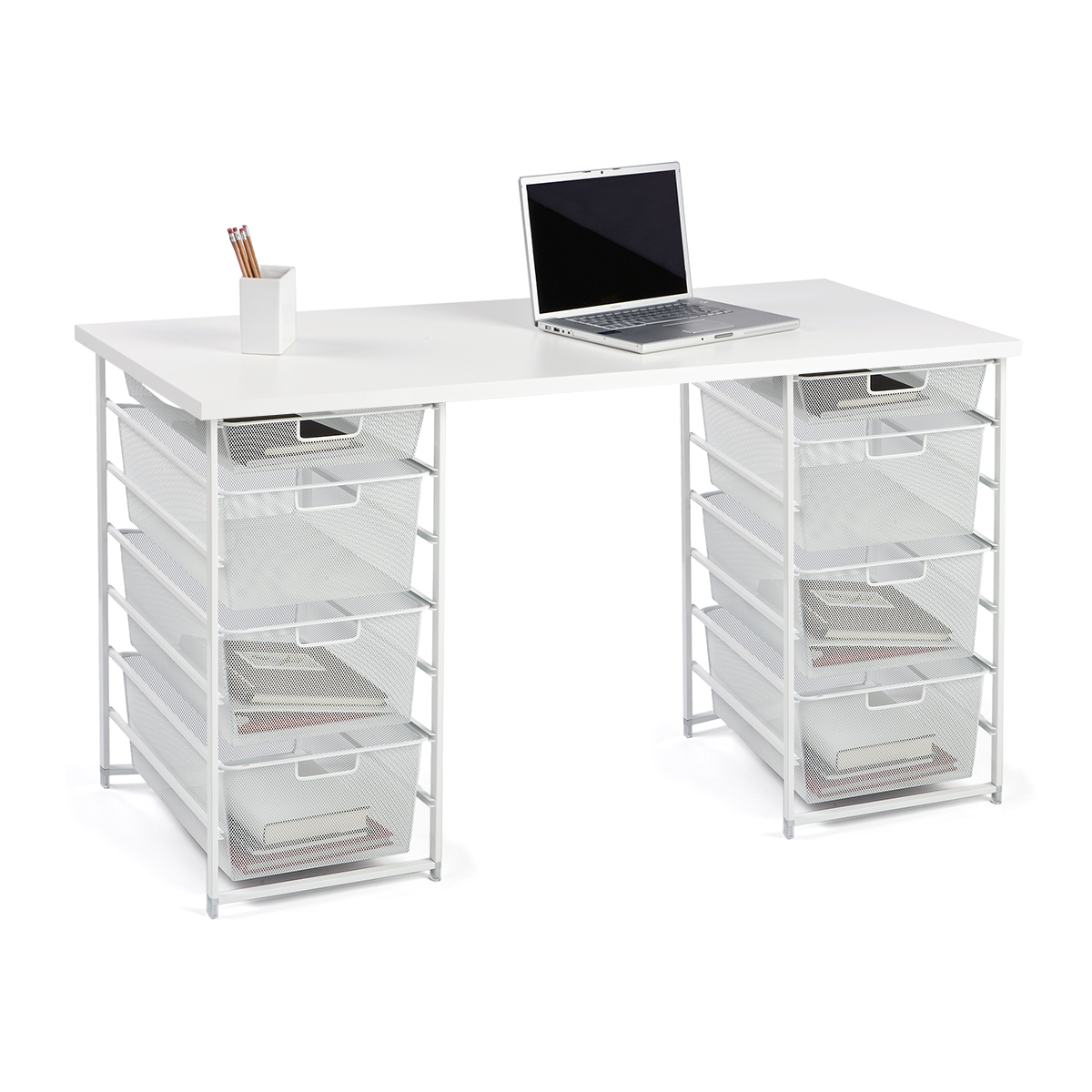 Elfa Desk Configuration Double Elfa