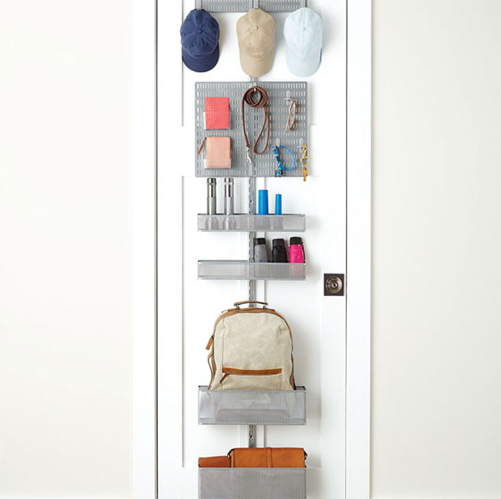 Platinum Elfa Utility Closet Door & Wall Rack with utility Board