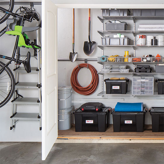 Platinum elfa Garage Storage Station