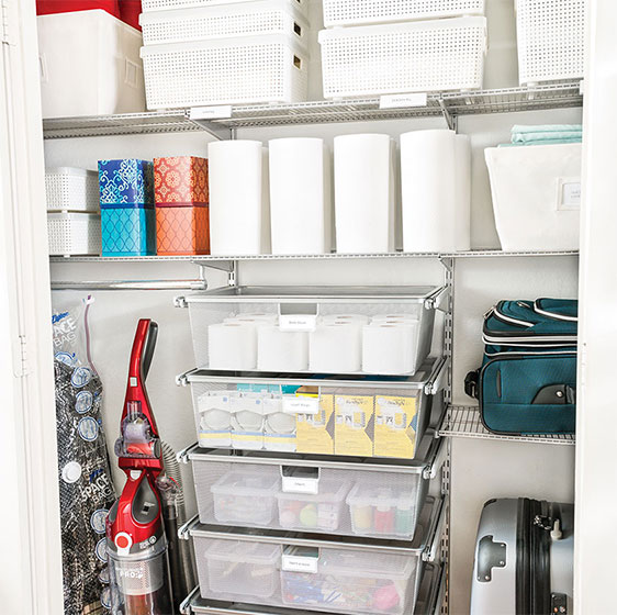 Platinum Elfa Supply Closet