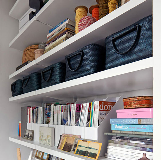 White Elfa Décor Book Shelves