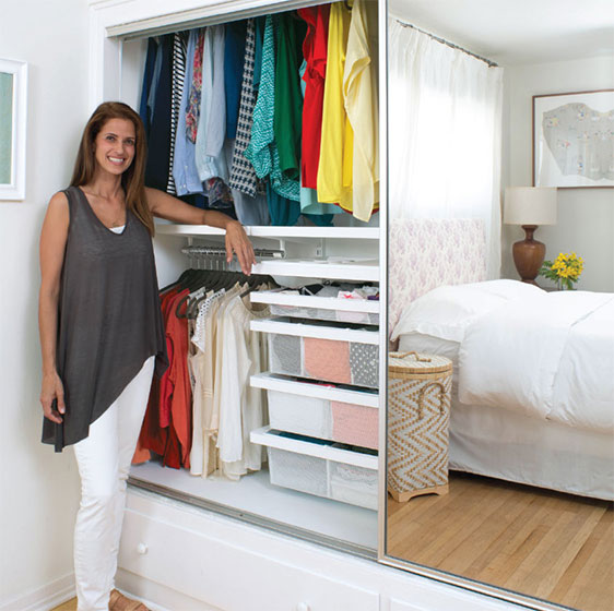 White elfa décor Double-Hang Closet