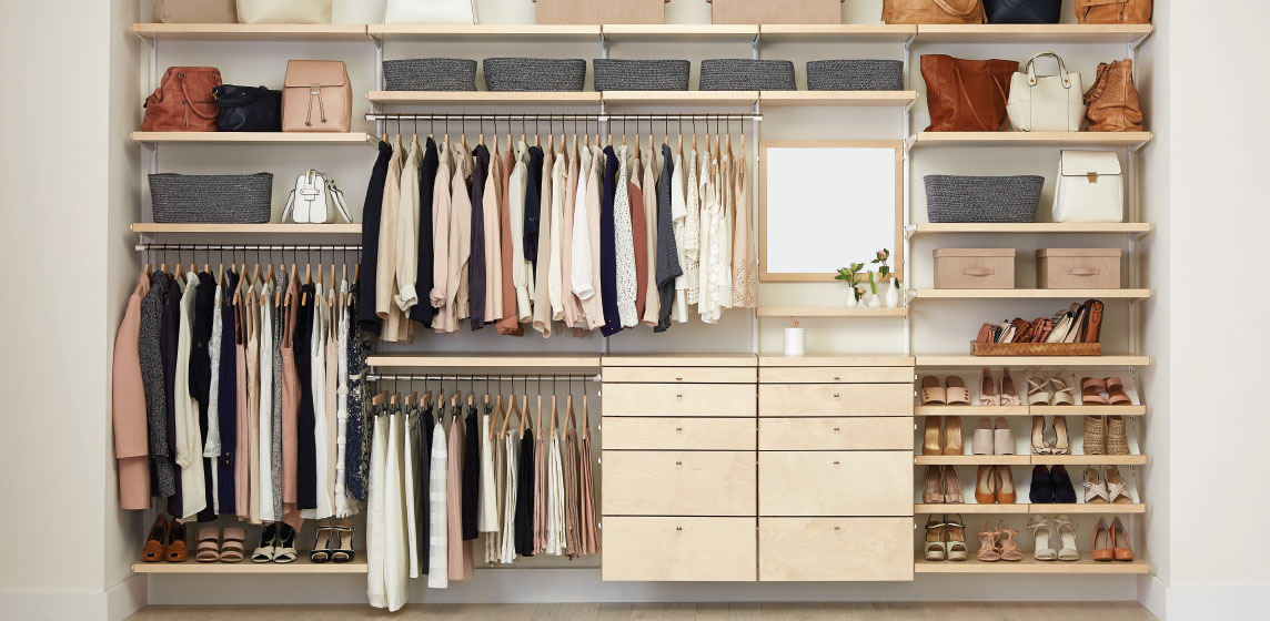 Elfa Reach In Closets Inspiration