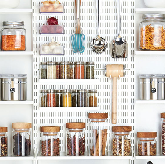 White Elfa Utility Pantry Board