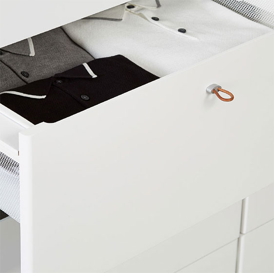 White Elfa Décor Drawer Front & Frame