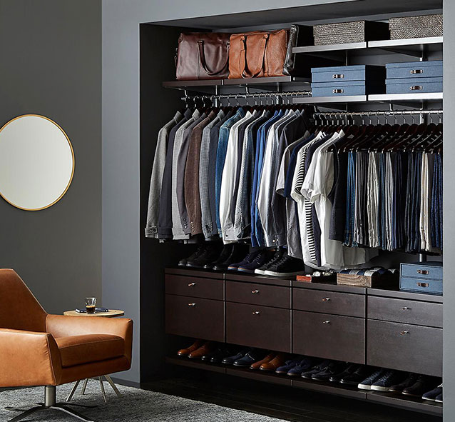 Elfa Custom Closet Amp Shelving System The Container Store