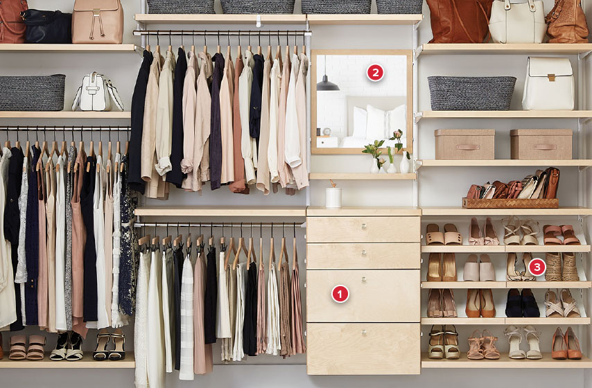 Birch elfa décor Reach-In Closet