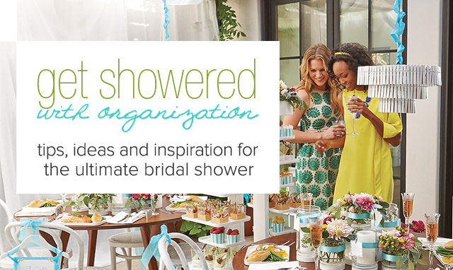 Bridal Shower Ideas The Container Store