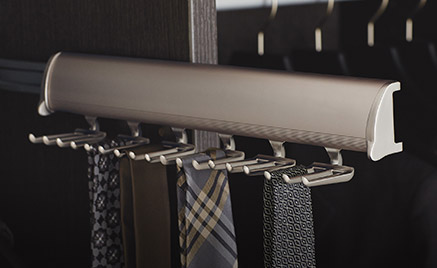 custom extendable closet tie rack