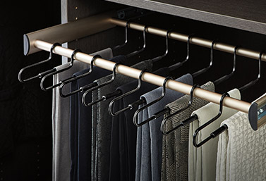 customizable closet extendable pants rack