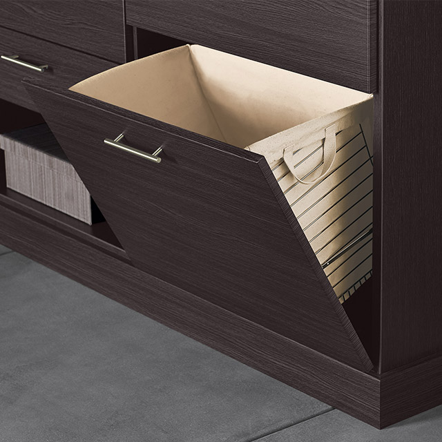 pull out closet hamper and storage bin
