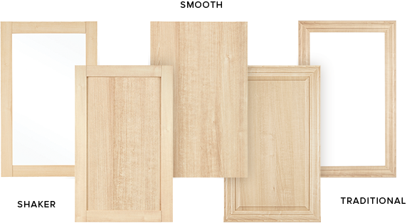 custom closet cabinet door options