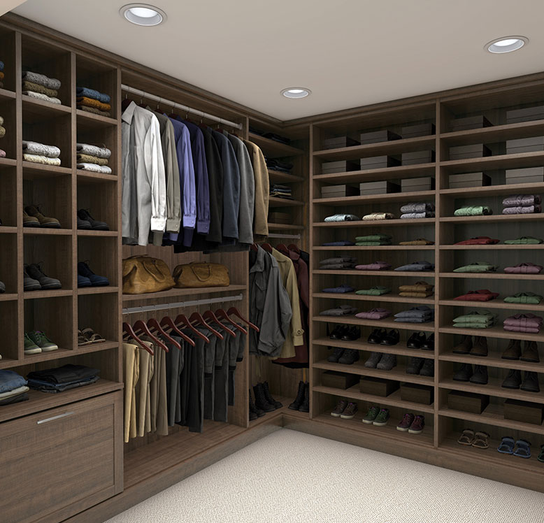 Flint Brown Custom Closet View 1