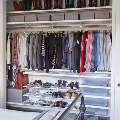Our Top 4 Handbag Storage Ideas Closet Ideas Amp Organization Tips The Container Store