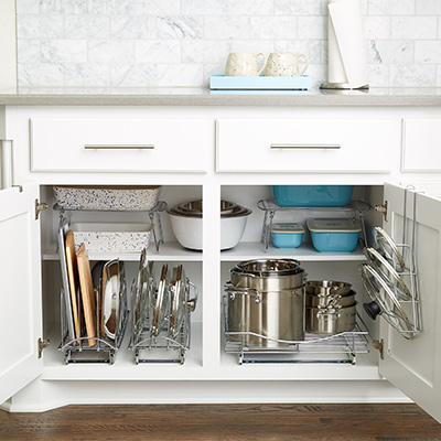 Storage Ideas Under The Kitchen California Countertop