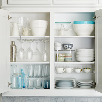 How To Organize Your Upper Kitchen Cabinets-image