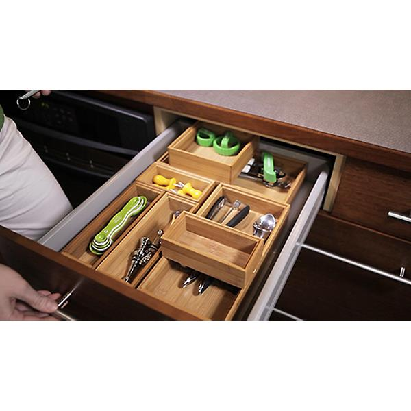 Bamboo Drawer Organizer Stackable Organizers The Container