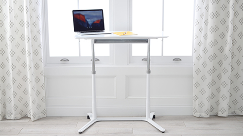 White Large Adjustable Standing Desk The Container Store